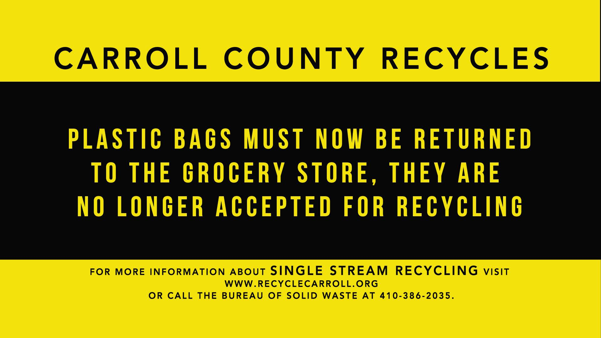 Plastic bags are no longer recycleable
